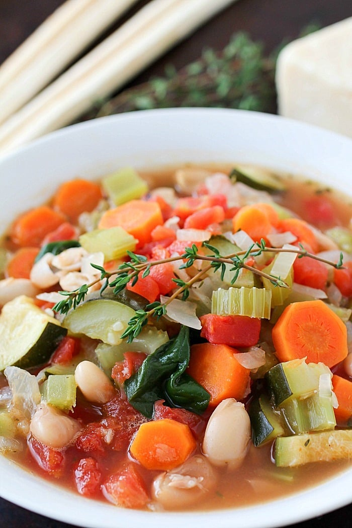 Healthy Tuscan Vegetable Soup Yummy Healthy Easy