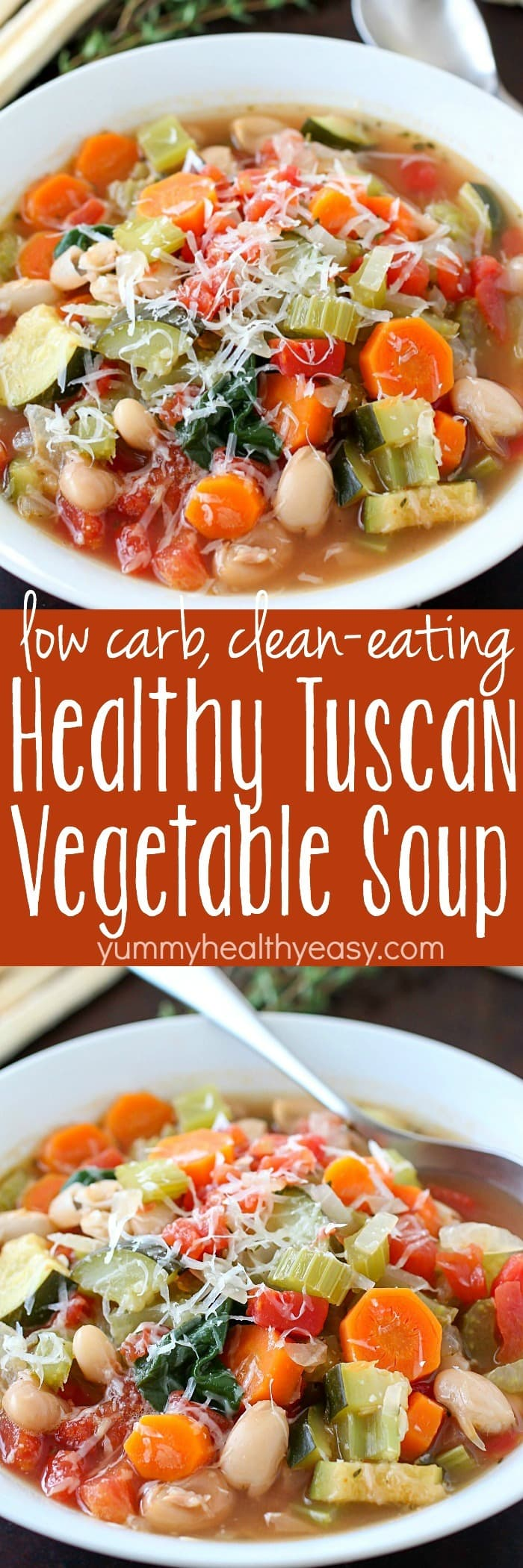 You won't believe the flavor in this easy-to-make Tuscan Vegetable Soup ! Who knew healthy could taste so good?! This healthy soup is gluten-free, vegetarian, clean-eating and low carb. The best part? Is it SO GOOD! via @jennikolaus
