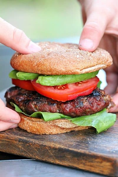 This is the yummiest burger recipe! Quick and easy to make with tons of flavor!