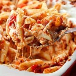 Skinny Cheesy Pasta Bake