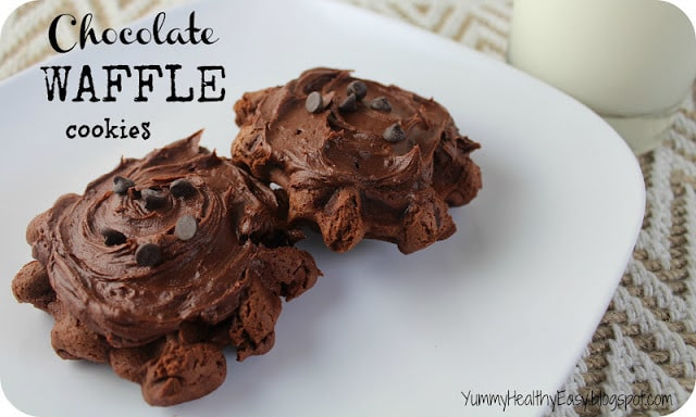 Chocolate Waffle Cookies - fun cookies baked right in the waffle iron! Only 6 easy ingredients needed!