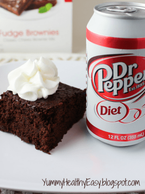 {Low Fat} Diet Dr. Pepper Brownies!!!