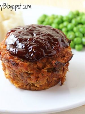 Easy Turkey Meatloaf Muffins with Tangy BBQ Sauce