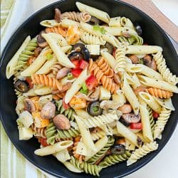 Best Ever Pasta Salad Recipe (with homemade dressing)