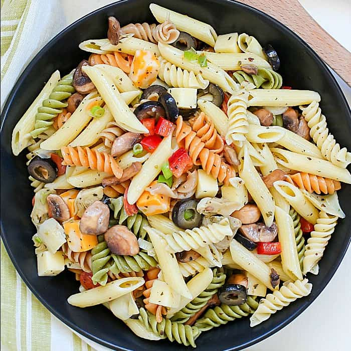 Best Ever Pasta Salad Recipe (with Homemade Dressing