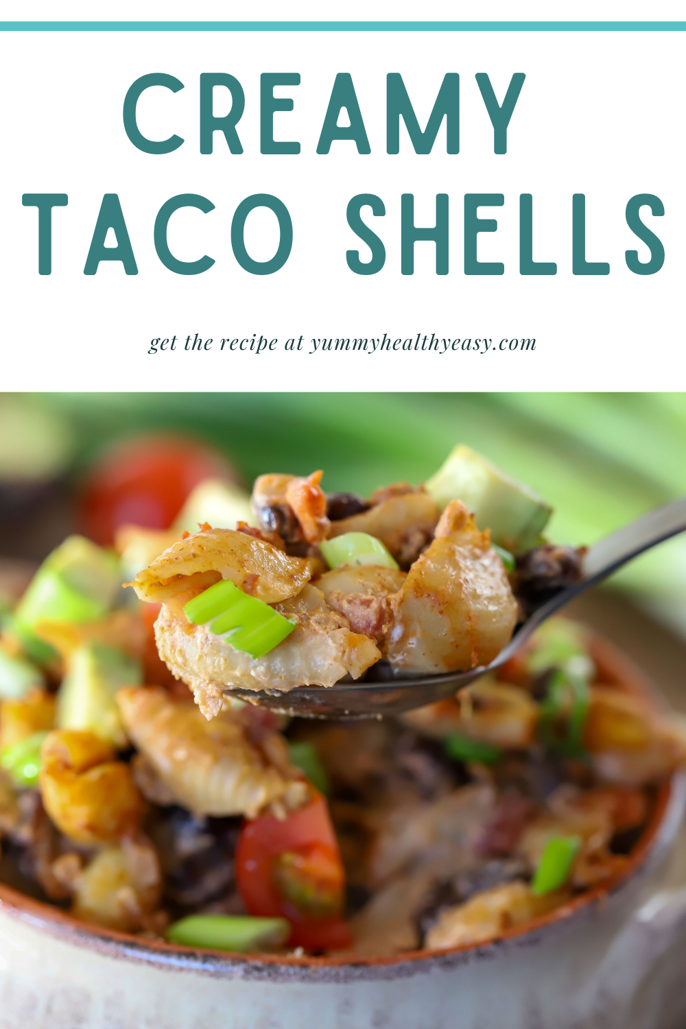 Looking for a change from your normal Taco Tuesday? Check out these Creamy Taco Shells! It's a quick 30-minute meal cooked all in one pan -ground turkey, black beans, taco seasoning and whole-wheat shells combined to make a hearty, healthy, delicious weeknight dinner! via @jennikolaus