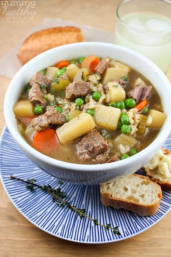 The Best Ever Slow Cooker Vegetable Beef Barley Soup ...