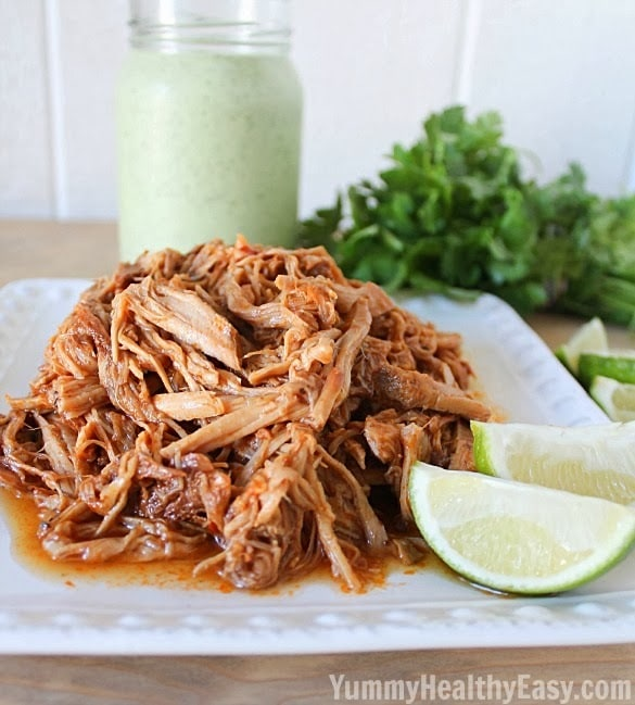 Copycat Cafe Rio Sweet Pulled Pork {Crock Pot}