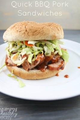 Easy Grilled Pork BBQ Sandwiches