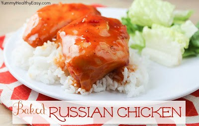 4 ingredient easy baked russian chicken