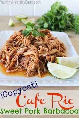 Copycat Cafe Rio Crock Pot Sweet Pork Recipe