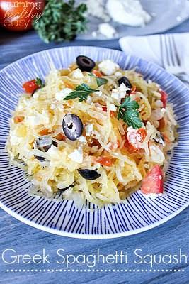 Healthy Greek Spaghetti Squash