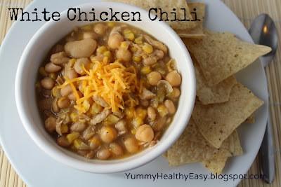 Easy stove top white chicken chili