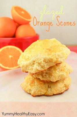 Glazed Orange Scones