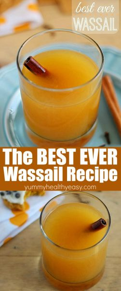 You won't believe how yummy this wassail drink is! It's super easy to make and tastes like heaven!