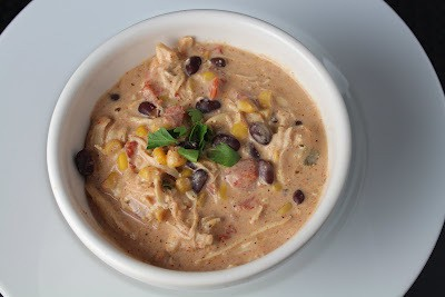 Easy Crock Pot Cream Cheese Chicken Chili