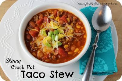 Skinny Crock Pot Taco Stew