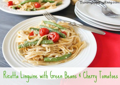 Ricotta Linguine with Green Beans and Cherry Tomatoes