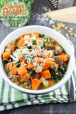 Quick and easy sweet potato and sausage soup