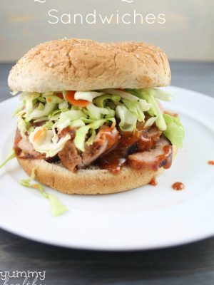 Quick BBQ Pork Sandwiches with Homemade Sauce & Slaw