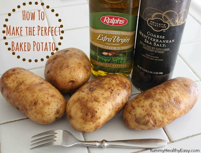 How to make the PERFECT baked potato right in the oven! It's simple, easy and the results are delicious! The softest skins with perfectly cooked insides! Let me show you how to do it...