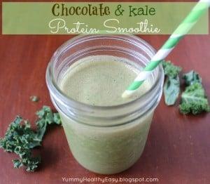 Chocolate & Kale Protein Smoothie