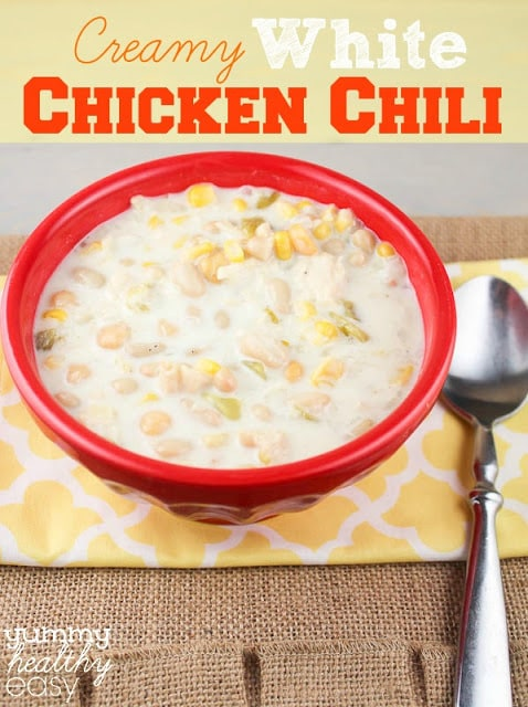 Creamy White Chicken Chili is such an easy chili recipe that everyone loves! Creamy and delicious!