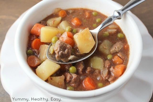 Crock Pot Beef Stew is a dinner that's as easy as can be to make and is all cooked in the slow cooker. This is incredible!
