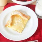 German Pancakes with homemade syrup! These are so easy - one pan to make a huge amount of pancakes!