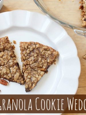 Skinny Granola Cookie Wedges