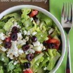 SO Yummy & Easy Greek Salad with Homemade Dressing Recipe