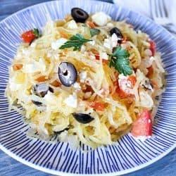 Greek Spaghetti Squash for an incredible healthy side dish!