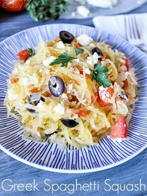 Greek Spaghetti Squash for an incredible healthy side dish!