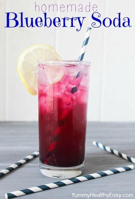 Homemade Blueberry Soda