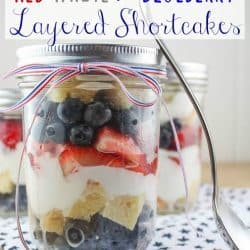 Red, White & Blueberry Layered Shortcakes