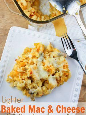 Lighter Baked Mac & Cheese aka Hidden Veggie Mac & Cheese