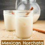 A delicious and easy recipe to make Mexican horchata at home! It's a rice and cinnamon drink that's just about the best-tasting creamy drink ever!