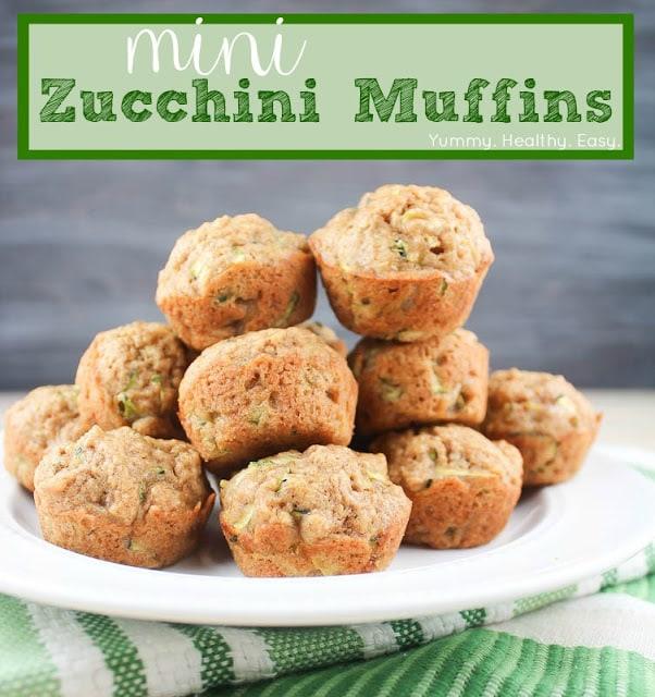 Mini Zucchini Muffins - Yummy Healthy Easy