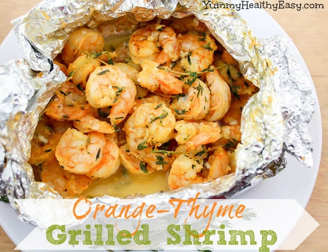 Orange Thyme Grilled Shrimp