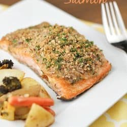 Pecan Crusted Honey-Mustard Salmon