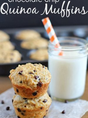 Chocolate Chip Quinoa Muffins