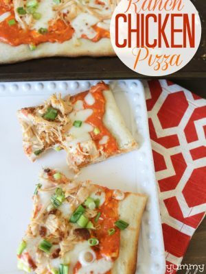 Easy Ranch Chicken Pizza