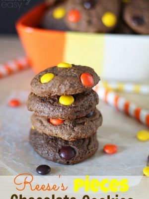 Reeses Pieces Chocolate Cookies