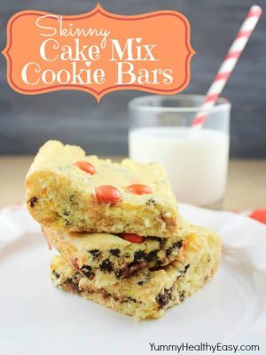Skinny Cake Mix Cookie Bars