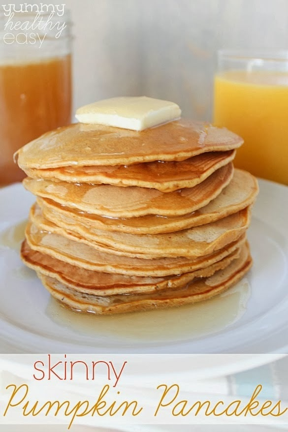 Delicious lighter and healthier pumpkin pancakes make a great fall ...
