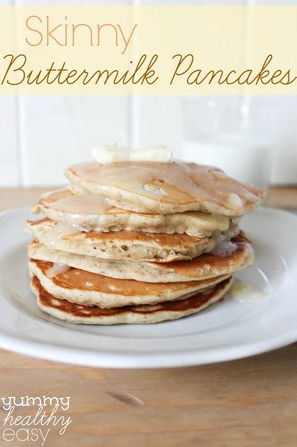 Skinny Buttermilk Pancakes