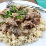 Slow Cooker Beef Stroganoff is such an easy, comforting dinner that everyone loves! This is a must-make!