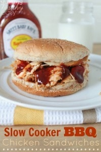 Slow Cooker BBQ Chicken Sandwiches