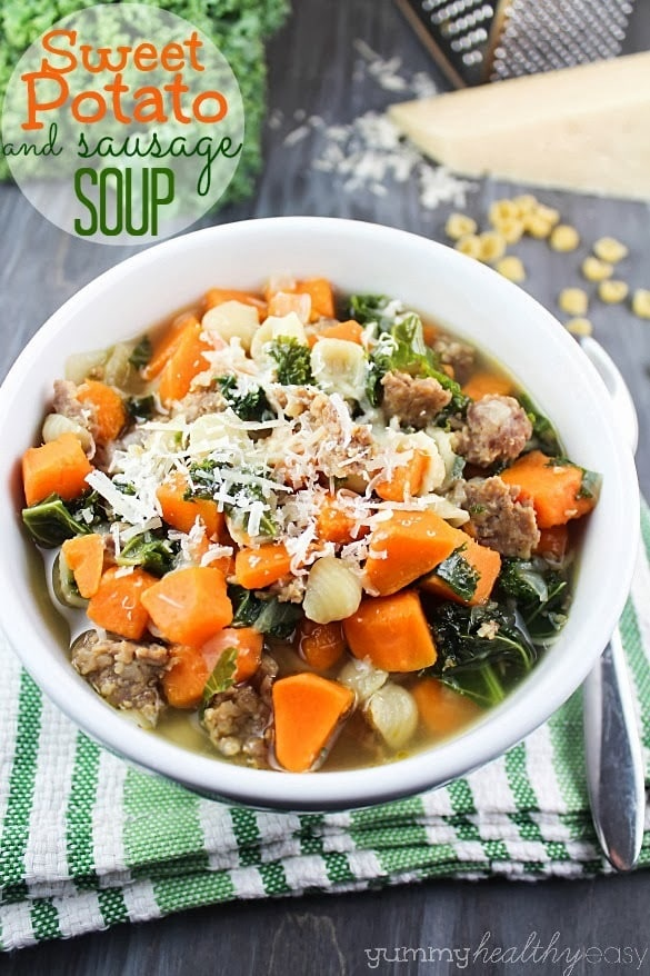 Sweet Potato & Sausage Soup | Comforting, hearty and delicious soup ...