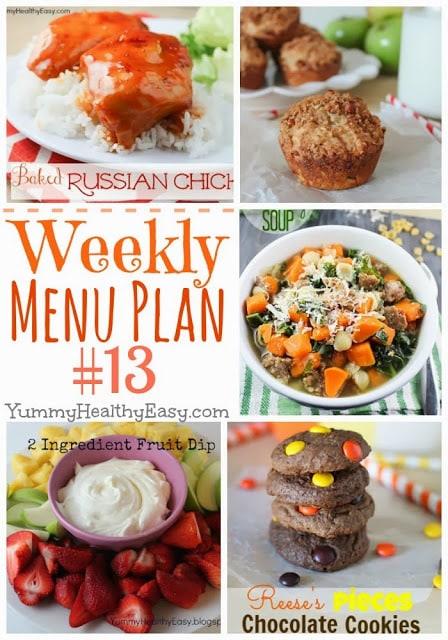 Yummy Healthy Easy Weekly Menu Plan
